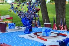 4th av Juli picknickberöm Arkivbild