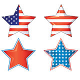 4th av Julys för jpg för eps ai för vektor för juli fjärde stjärnaamerikanska flaggan 4th stjärnor och band vektor illustrationer