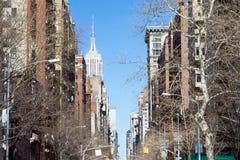 5th ave för New York City - Manhattan horisont Fotografering för Bildbyråer