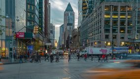8th Ave widzieć od Kolumb okręgu w Manhattan, Nowy Jork 4K czasu upływ zdjęcie wideo
