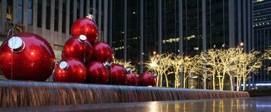6th Avenue Christmas decorations Stock Image