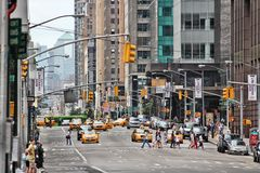 6th Avenue, New York Royalty Free Stock Images