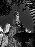 5th avenue in newyork fountain. 5th avenue in newyork city in b Royalty Free Stock Photo