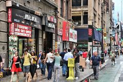 8th Avenue shopping Royalty Free Stock Photography