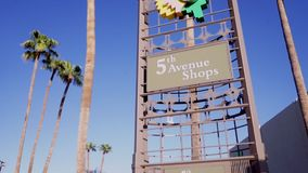 5th Avenue Shops, Downtown Scottsdale, Az. Area with specialty shops, art galleries, boutiques, crafts shops and restaurants stock video