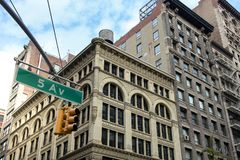Fifth avenue. 5th avenue sign in New York Stock Image