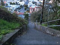 15Th Avenue steps, one of San Francisco`s smallest, UNofficial parks, 9. San Francisco has many beautiful, and well known, parks, as well as hills. There are Royalty Free Stock Images