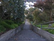 15Th Avenue steps, one of San Francisco`s smallest, UNofficial parks, 11. San Francisco has many beautiful, and well known, parks, as well as hills. There are Royalty Free Stock Photography
