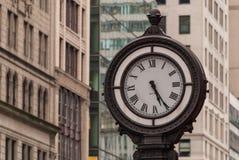5th avenue street clock Royalty Free Stock Image