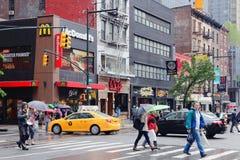 8th aveny, New York Arkivbild