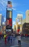 7th aveny och Broadway Arkivbilder