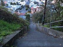 15Th avenymoment, ett av minst som San Francisco ` s är inofficiellt parkerar, 9 Royaltyfria Bilder
