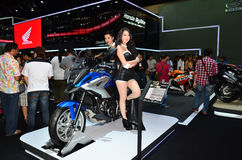 The 37th Bangkok International Thailand Motor Show 2016. NONTHABURI - MARCH 26: Honda motorcycle with unidentified model on display at The 37th Bangkok Stock Image