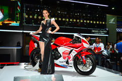 The 37th Bangkok International Thailand Motor Show 2016. NONTHABURI - MARCH 26: Honda motorcycle with unidentified model on display at The 37th Bangkok Stock Images