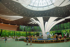 The 9th Beijing horticultural exposition the main hall. Tourists in the 9th Beijing horticultural exposition in the main hall visit.On July 26, 2013, China Royalty Free Stock Photography