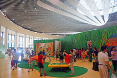 The 9th Beijing horticultural exposition the main hall. Tourists in the 9th Beijing horticultural exposition in the main hall visit.On July 26, 2013, China Royalty Free Stock Image