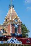 60th beröm på Disneyland Arkivfoton