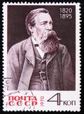 150th Birth Anniversary of Friedrich Engels, circa 1970. MOSCOW, RUSSIA - APRIL 2, 2017: A post stamp printed in USSR, dedicated to the 150th Birth Anniversary Stock Image