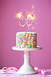 30th birthday cake Stock Images