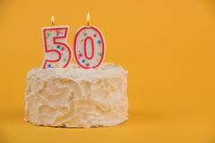 50th Birthday Cake Stock Image