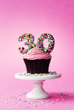 30th birthday cupcake Stock Images