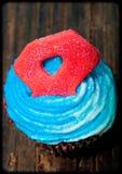 4th Birthday cupcake Stock Image