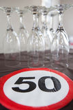 50th birthday decoration Stock Images