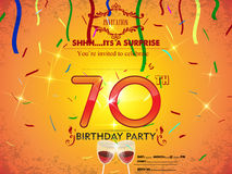 70th birthday party card template Stock Photos