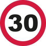 30th Birthday - traffic sign. Vector Stock Image