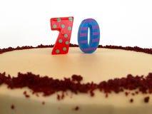 70th bolo de aniversário Fotografia de Stock Royalty Free