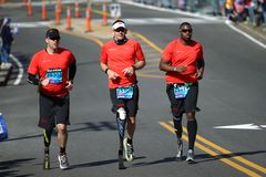 118th Boston Marathon took place in Boston, Massachusetts, on Monday, April 21 Patriots` Day 2014 stock photo