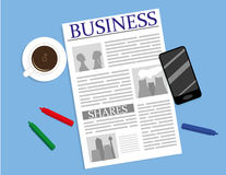 Th Business Page Stock Image