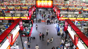 118th canton fair hall 1.1 machinery, guangzhou, china stock video footage