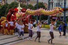 48th carnaval da flor em Debrecen, Hungria fotografia de stock