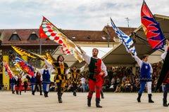 48th carnaval da flor em Debrecen, Hungria Imagens de Stock Royalty Free
