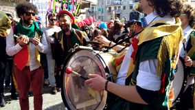 35th carnival in Scampia - Naples- Italy stock video footage