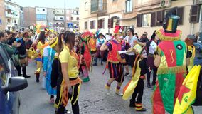 35th carnival in Scampia - Naples- Italy stock video