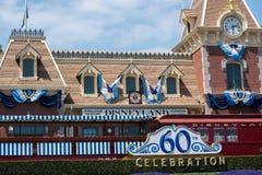 60th celebração em Disneylândia Fotos de Stock Royalty Free