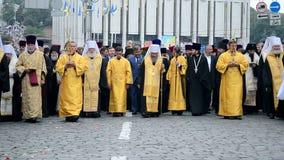 1000th celebration anniversary of the repose of St. Vladimir, Kiev, Ukraine, stock video footage