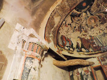 4th century AD Old church painting Royalty Free Stock Photo