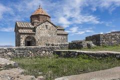 The 9th century Armenian monastery of Sevanavank at lake Sevan. Royalty Free Stock Photography