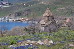 The 9th century Armenian monastery of Sevanavank at lake Sevan. Stock Images