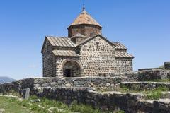 The 9th century Armenian monastery of Sevanavank at lake Sevan. Stock Photography