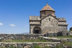 The 9th century Armenian monastery of Sevanavank at lake Sevan. Royalty Free Stock Photo