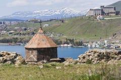 The 9th century Armenian monastery of Sevanavank at lake Sevan. Royalty Free Stock Photos