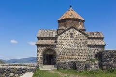 The 9th century Armenian monastery of Sevanavank at lake Sevan. Stock Image