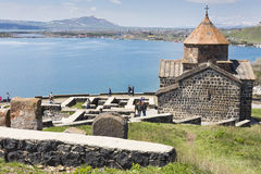 The 9th century Armenian monastery of Sevanavank at lake Sevan. Royalty Free Stock Photo