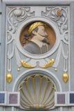 14th century Artus Court on Long Market street, decorative facade, Gdansk, Poland.  stock photography