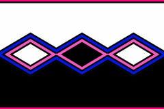 Geometric pattern: black, blue, pink and white diamonds royalty free illustration