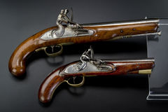 18th Century British Flintlock Pistols. Royalty Free Stock Images